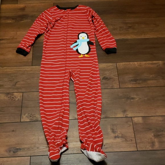 NWT Girls Fleece Carter/'s Footed Pajamas Size 4T Winter Pjs Pink Pig Dot NEW